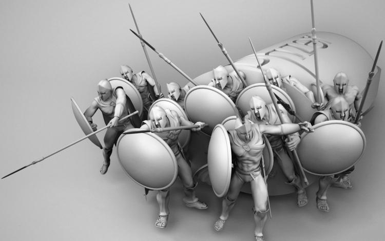 Detail Spartans 3D angle campai - batboy-8647 | ello