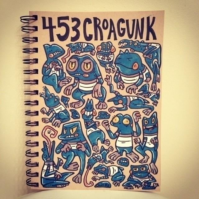 Croagunk - croagunk, pokemon, illustration - carolinedirector | ello