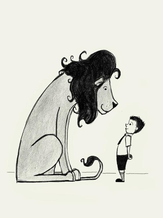 lion man - kid, kids, kidlit, kidlitart - beth-6270 | ello