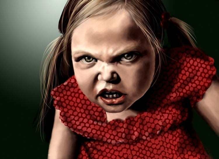 Angry Girl - illustration, characterdesign - georgia-1002 | ello