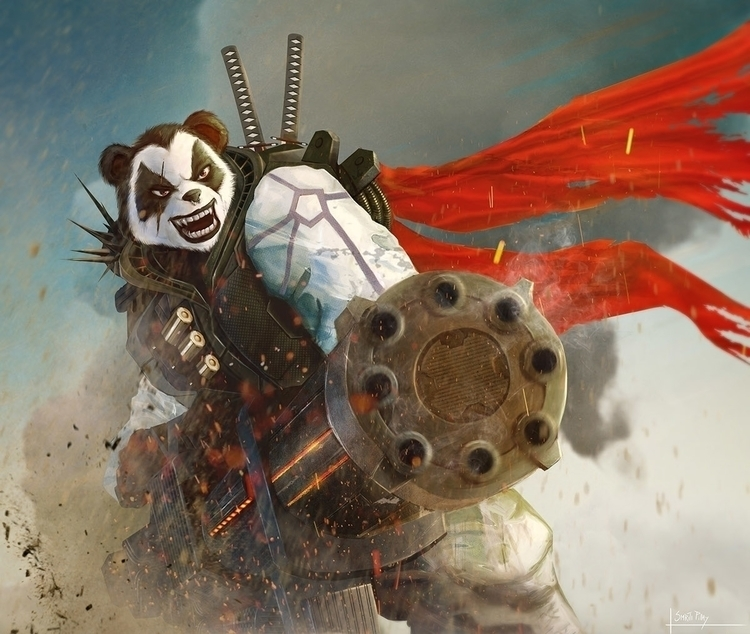 Angry Panda - illustration, characterdesign - spy-9419 | ello