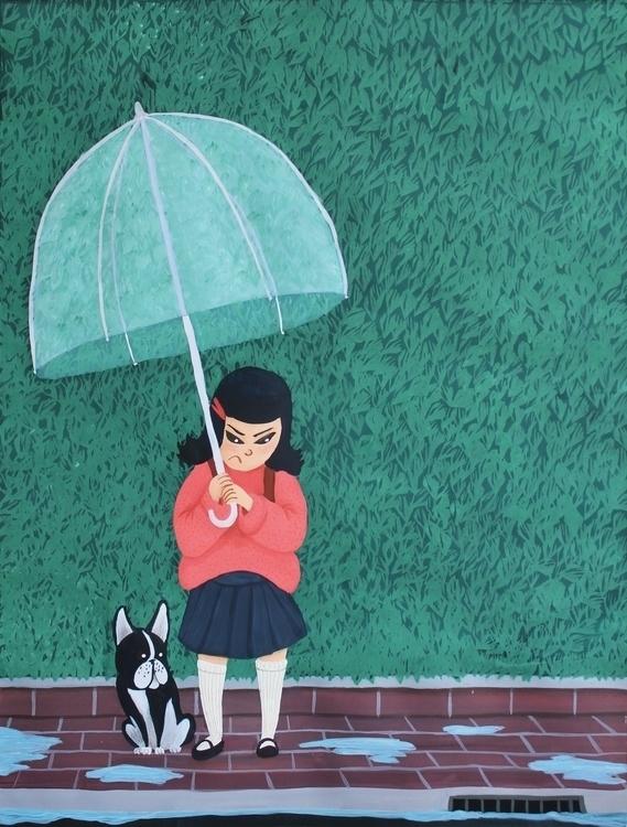 hates Mondays - gouache, painting - beth-6270 | ello