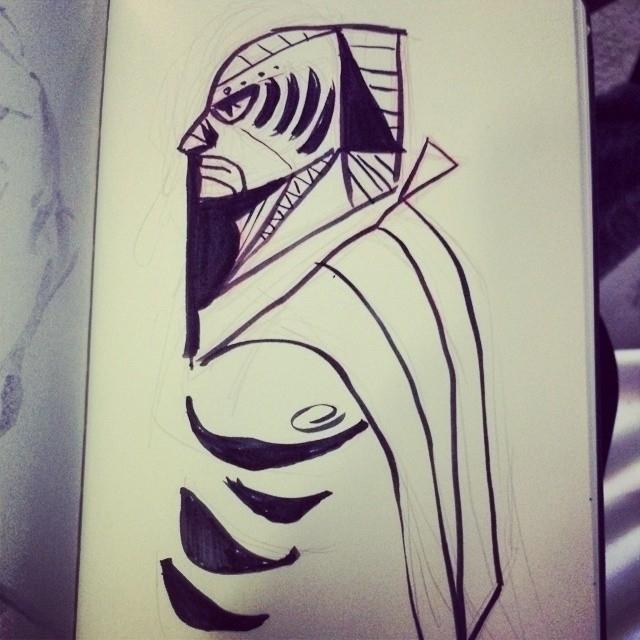 sketch, sketchbook, luchador - artsypabster | ello