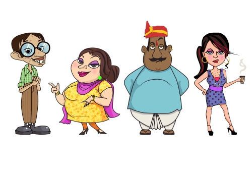 Cartoon characters - vector - illustration - spy-9419 | ello