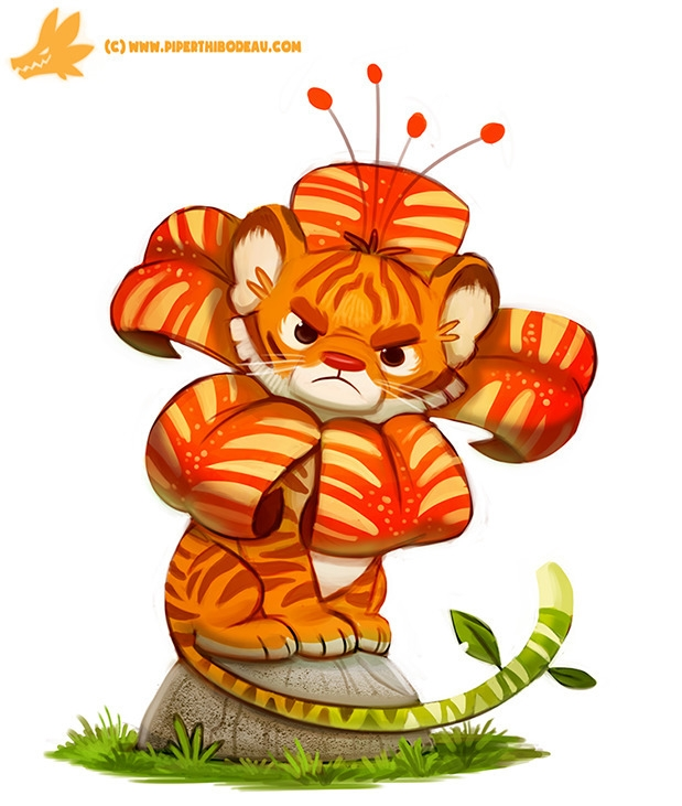 Daily Paint Tiger Lily - 1156. - piperthibodeau | ello