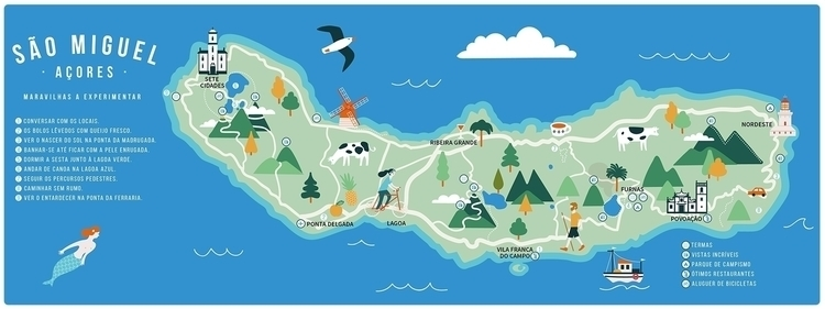 illustration, map, summer, holidays - ile-1402 | ello