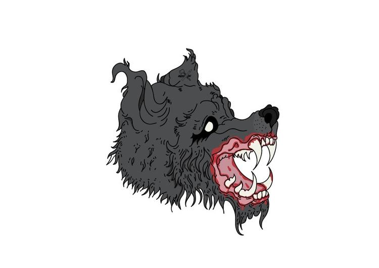 Quick banger - wolf, lone, illustration - lincoln_inc | ello