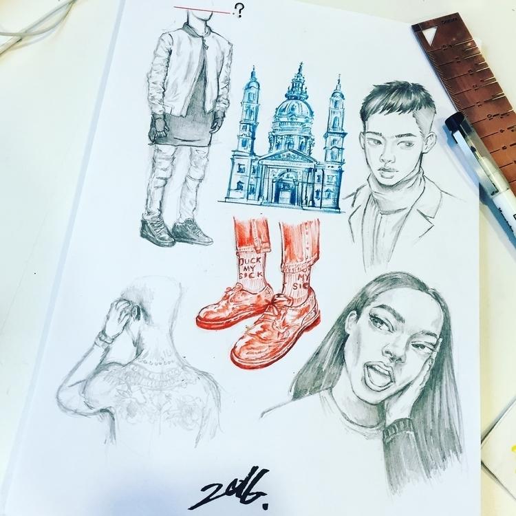 2016  - illustration, sketchbook - superpills | ello