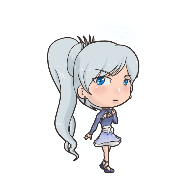 Chibi Weiss - illustration, characterdesign - fkim90 | ello