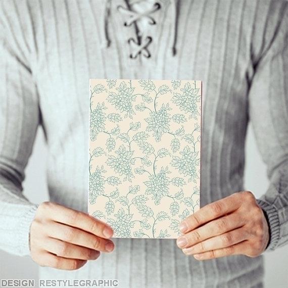 Retro floral pattern card 4x6 i - yaviki | ello