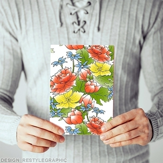 Flower greeting card envelope - illustration - yaviki | ello