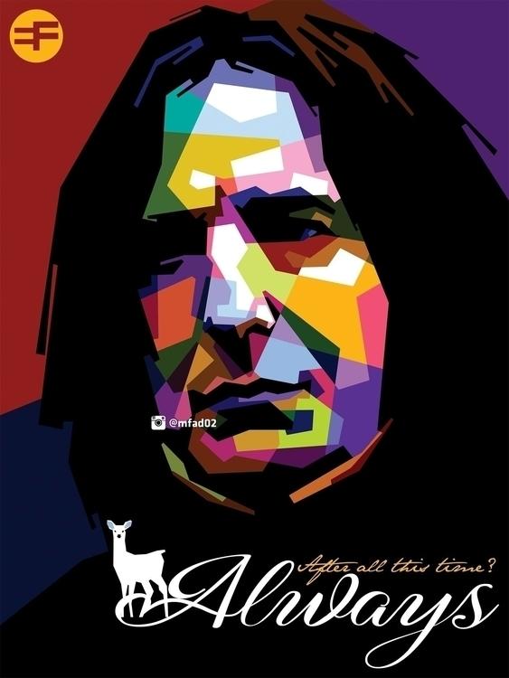 Prof. Severus Snape WPAP - illustration - phazeva02 | ello