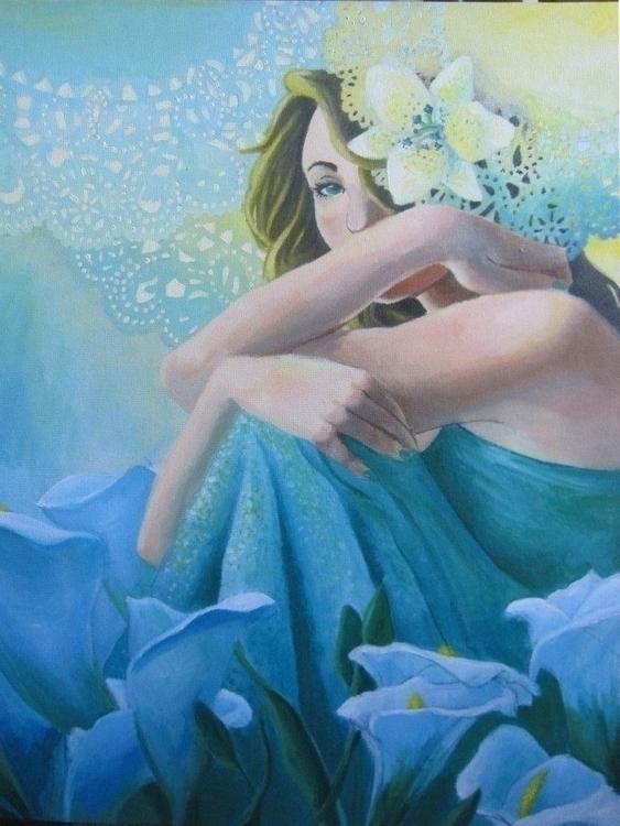 Serenity *SOLD - painting, acrylic - shanalikeanna | ello