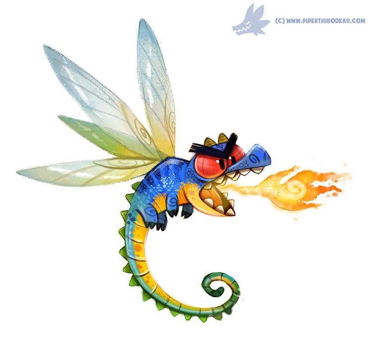 Daily Paint Dragonfly (OA - 992. - piperthibodeau | ello