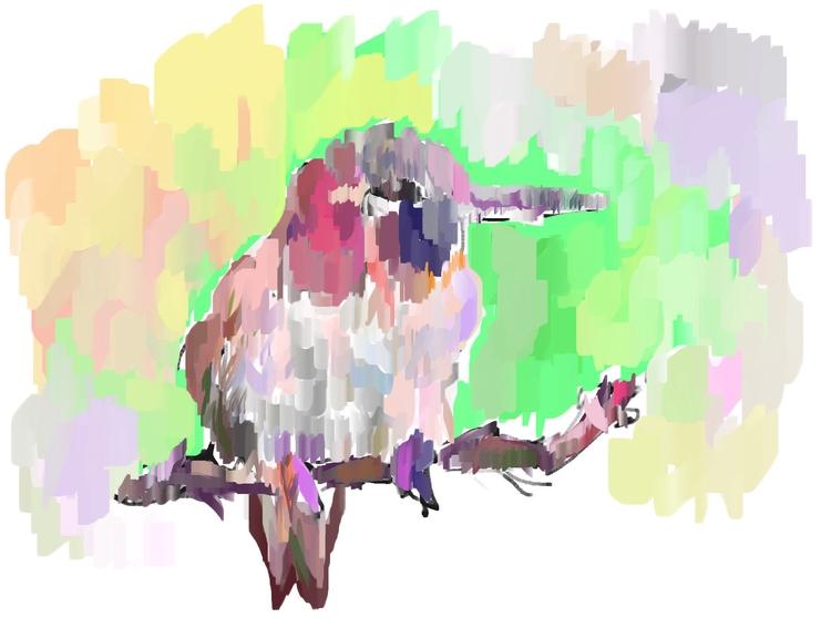Bird study digital painting - bird - rabbott-8438   ello