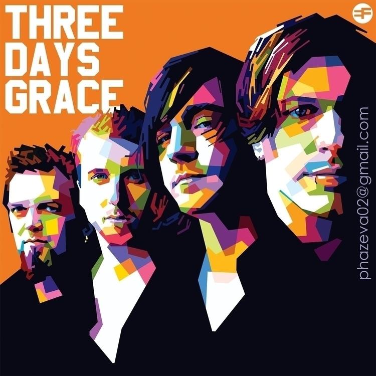 Days Grace WPAP - threedaysgrace - phazeva02 | ello