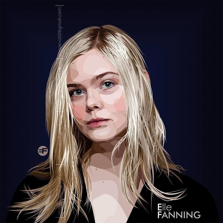 Elle Fanning - ellefanning, vector - phazeva02 | ello