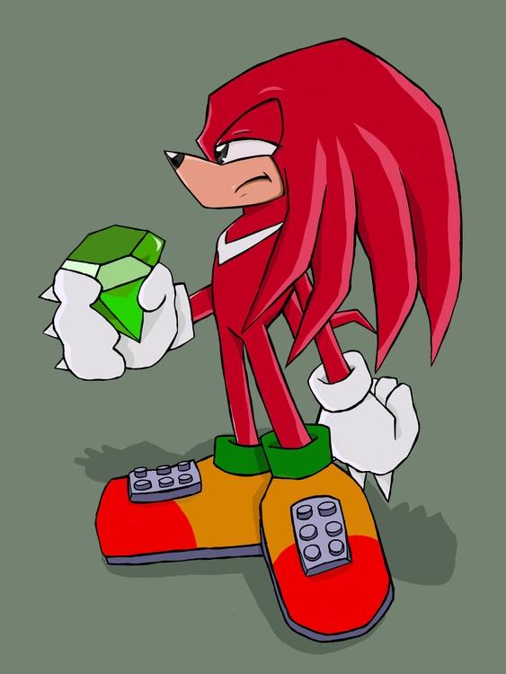 Knuckles - sonic, sonicthehedgehog - rabbott-8438 | ello