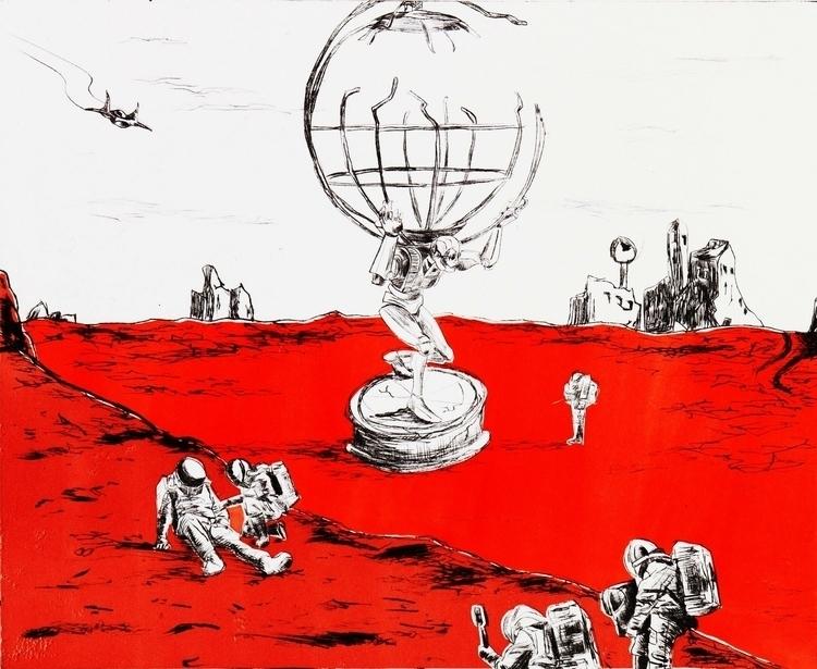 astronauts, planet, alien - miltoms | ello