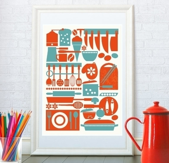 Kitchenware print - illustration - yaviki | ello
