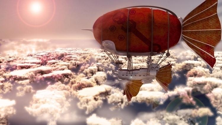 Flying Ship Model - illustration - leo10892 | ello
