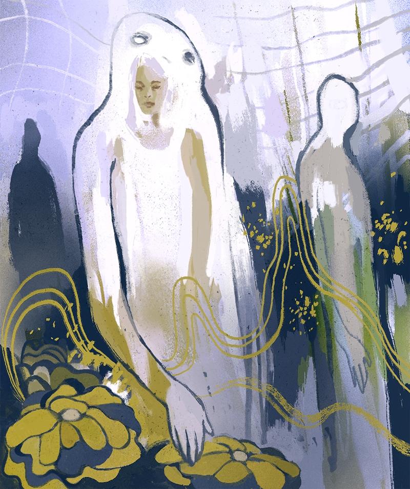 Ghosts - digitalpainting, illustration - nicolexu-8498 | ello