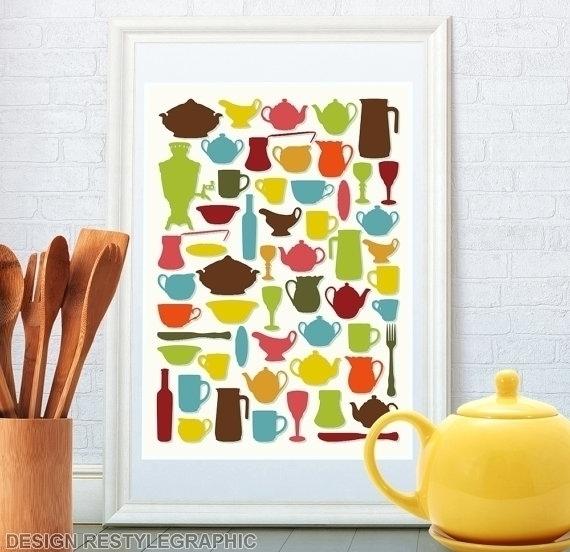 Kitchen art print - illustration - yaviki | ello