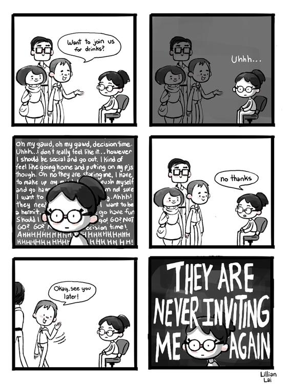 invited - awkward, comics, funnydrawing - lillisketch | ello