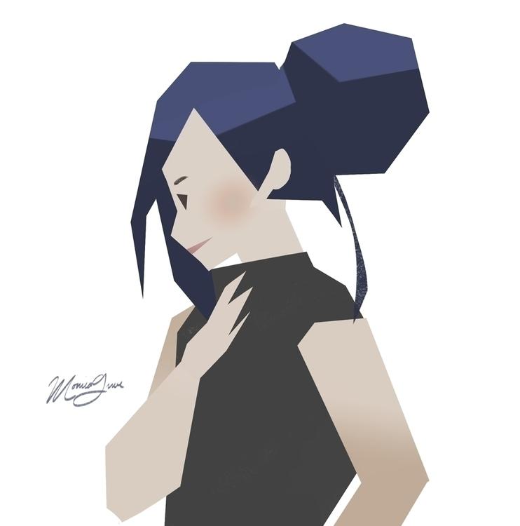 Lilac - sketch, girl, digitalart - monicagrue | ello