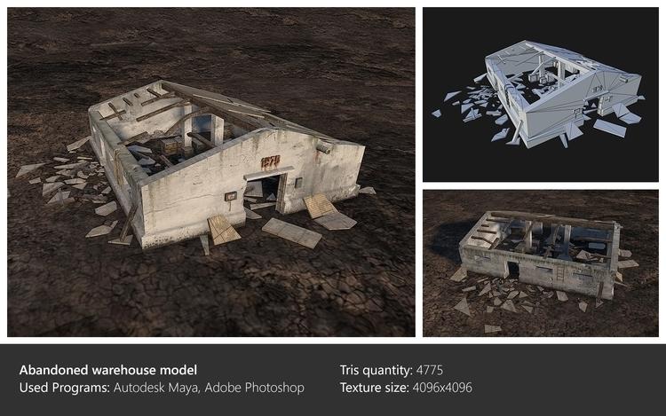 Warehouse model - environment, 3dart - ghostb | ello