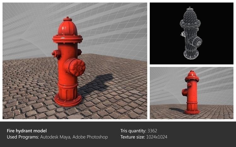 Fire hydrant model - 3dart, environment - ghostb | ello