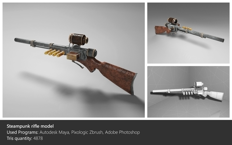 Kinda steampunk sniper rifle - 3dart - ghostb | ello