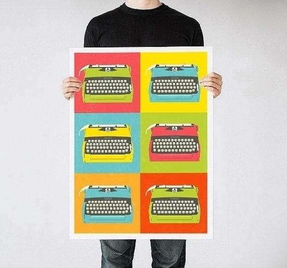 Typewriter print kids room - poster - yaviki | ello