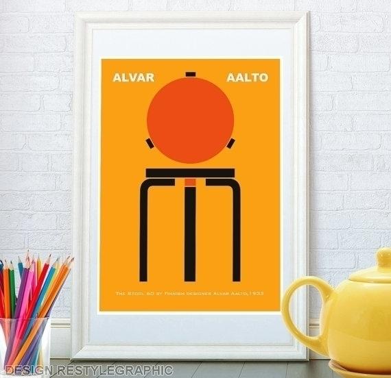 Stool 60 Alvar Aalto print - illustration - yaviki | ello