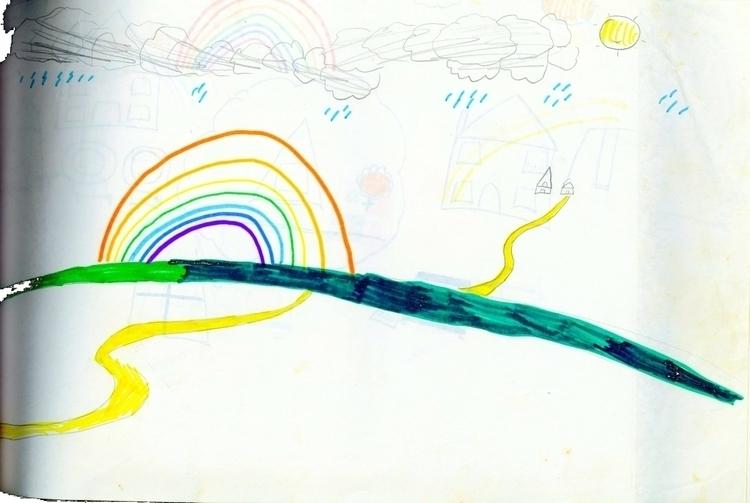 Rainbow Field - rainbow, field, nature - novabrunswick | ello