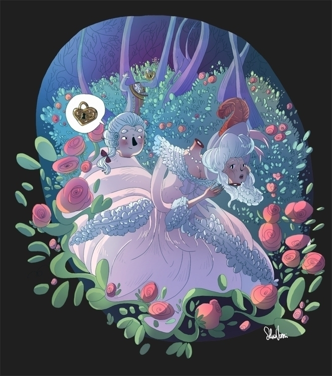 Marie Antoinette - illustration - silviavanni | ello