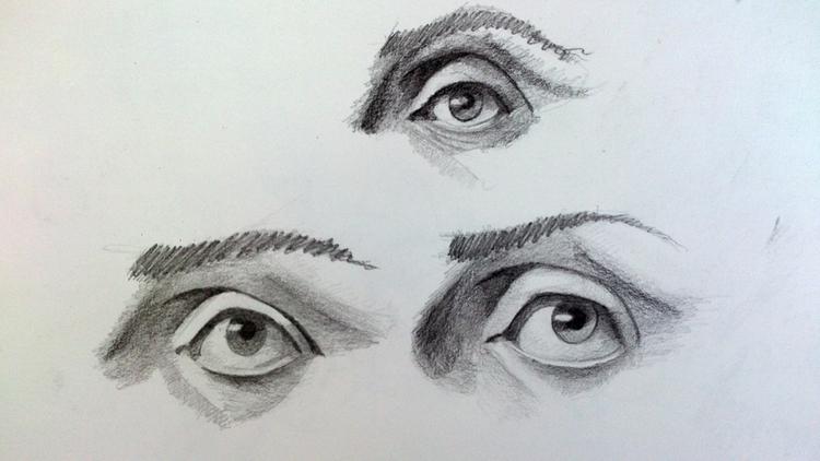 Eyes study - eyes, sketch, 2dart - ghostb | ello