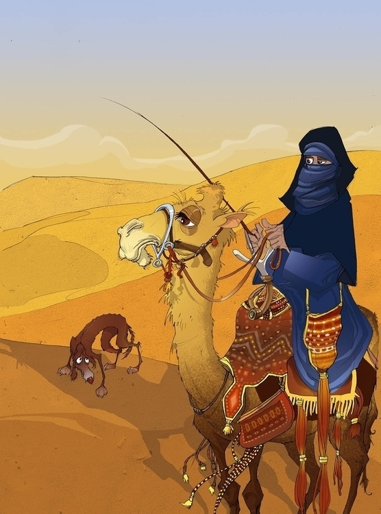 Desert blues - illustration, drawing - tiho-3213 | ello