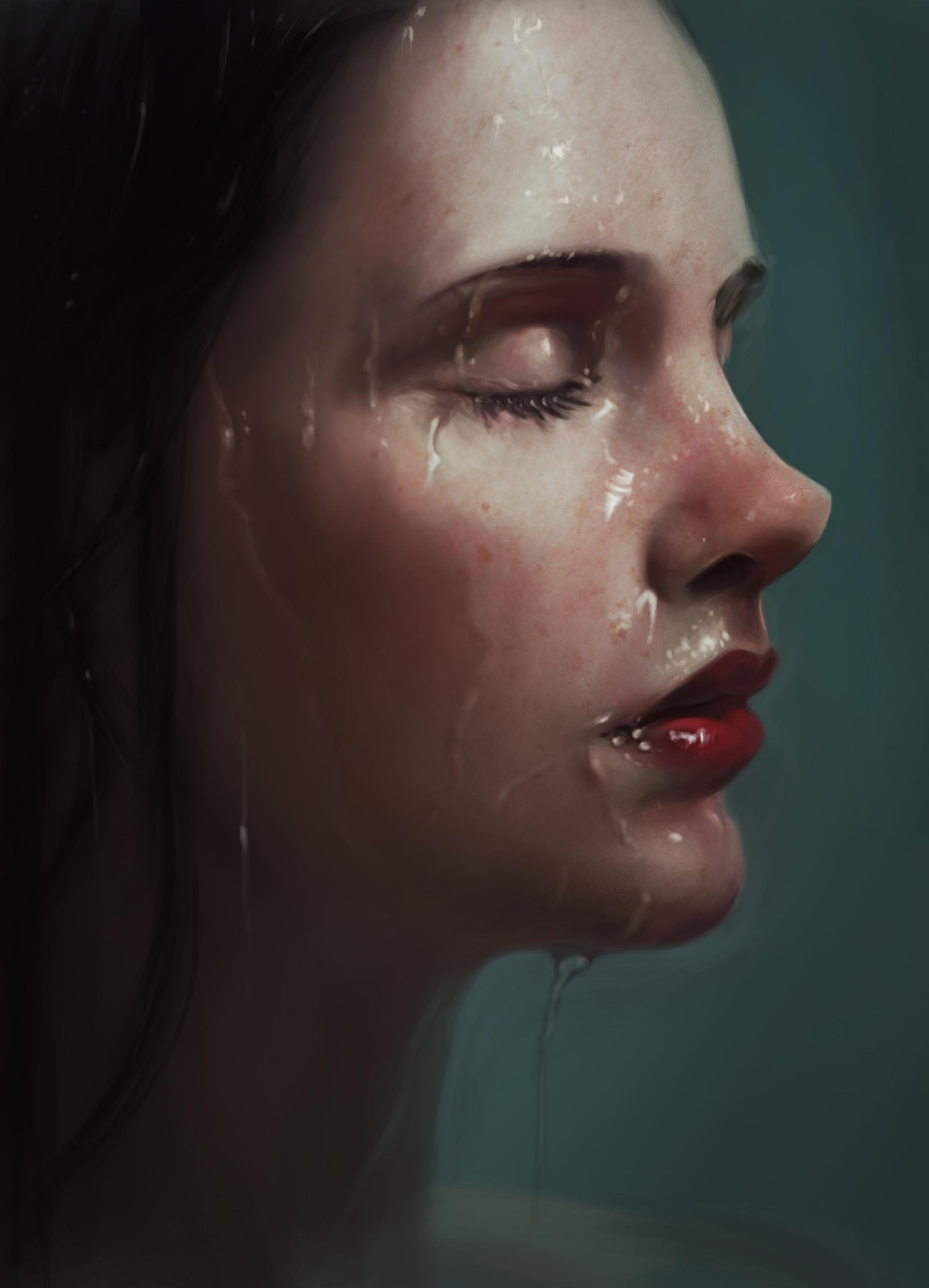 #portrait, study, #AlyssaMonks - marinaarmus | ello