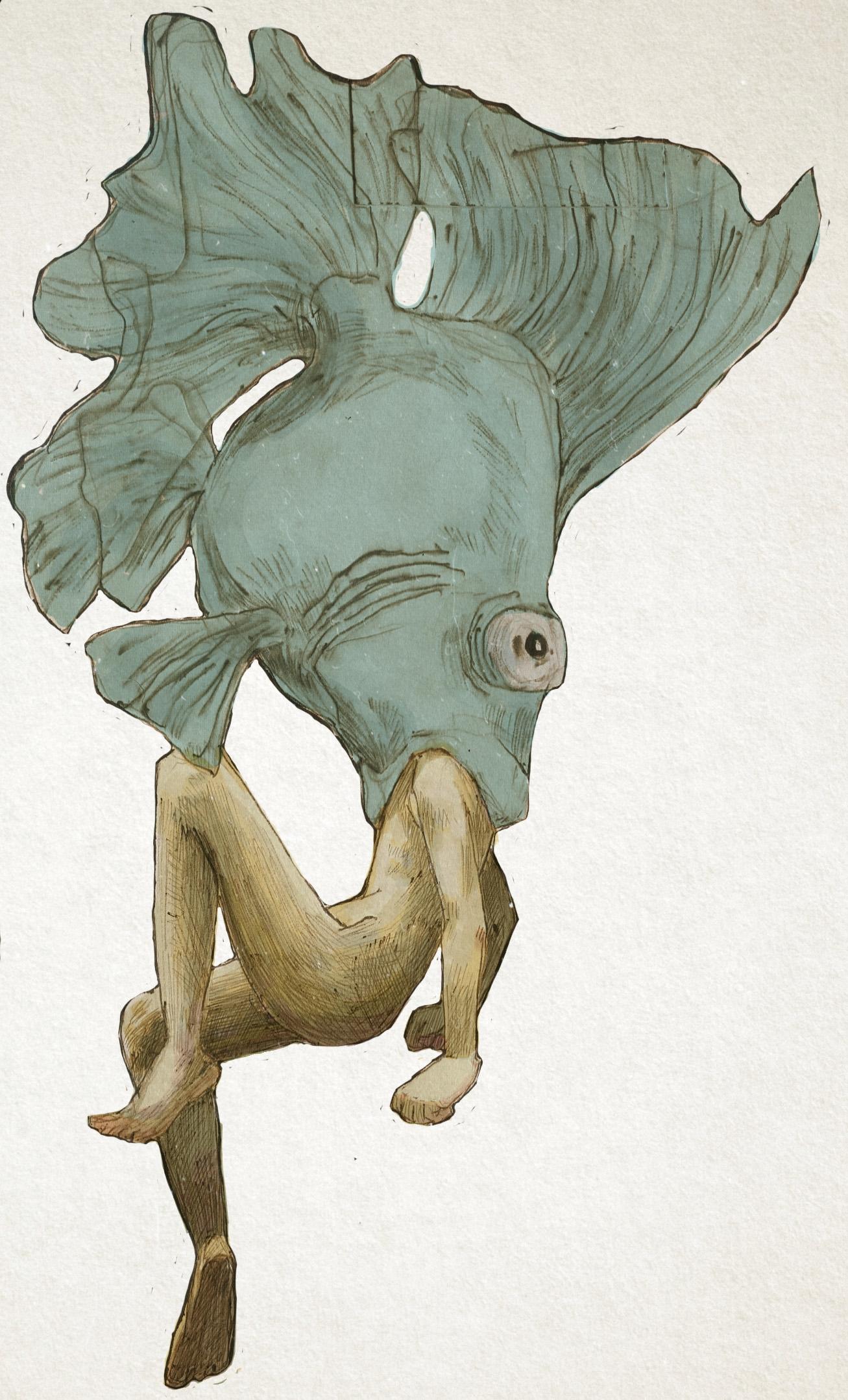 fish - digitalart, surreal, girls - karlotta | ello