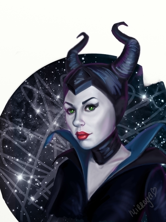 Malificent, 2015 - illustration - mirroya | ello
