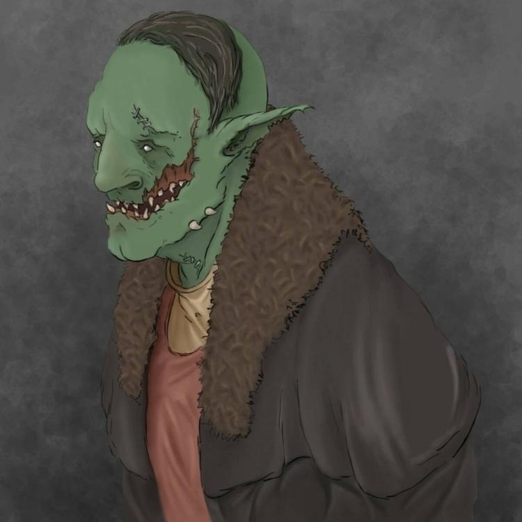 Goblin warlord sketch - goblin, drawing - ghostb | ello