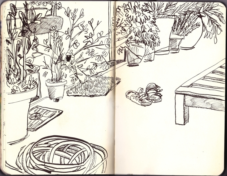sketch - ink, drawing, illustration - sarahherlant | ello