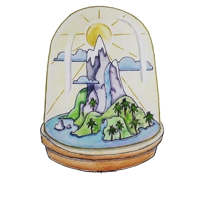 Portable paradise - terrarium, island - jolienkempen | ello