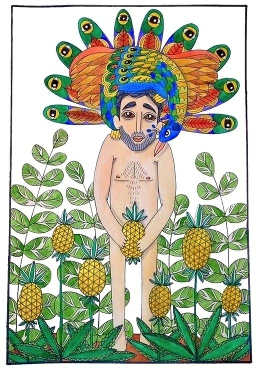 Peacock pineapple - peacock, man - jolienkempen | ello