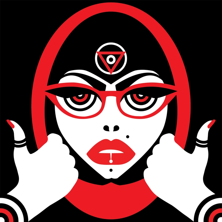 BoldBeautiful - BlackWhiteRed, illustration - shruti-1069 | ello