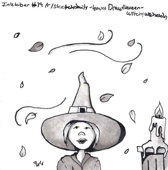 - Leaves Drawlloween2016 Witchc - svaeth | ello