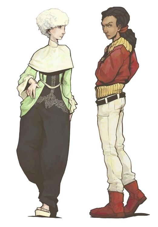 characters, sketch - jon-6922 | ello