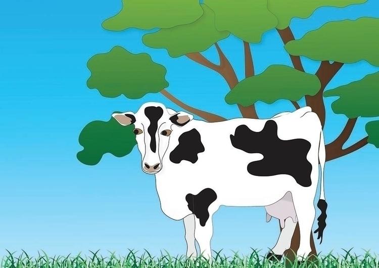Cow soil elements - illustration - kiwi-1078 | ello