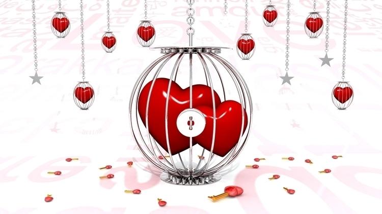 Hearts Ring - illustration, conceptart - aman_d_singh | ello